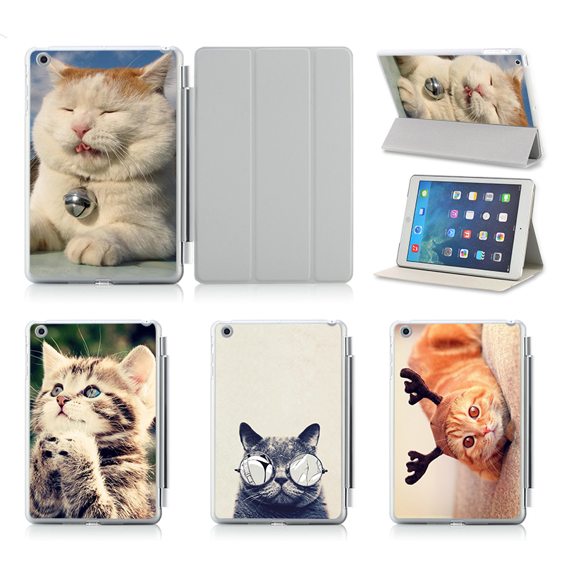 Lovely Cat PU Leather Flip Case For Apple iPad Air 2 For iPad 2 3 4 5 6 Mini 1 2 3 4 Case Stand Cover Case Free Shipping bulova часы bulova 96w207 коллекция diamonds