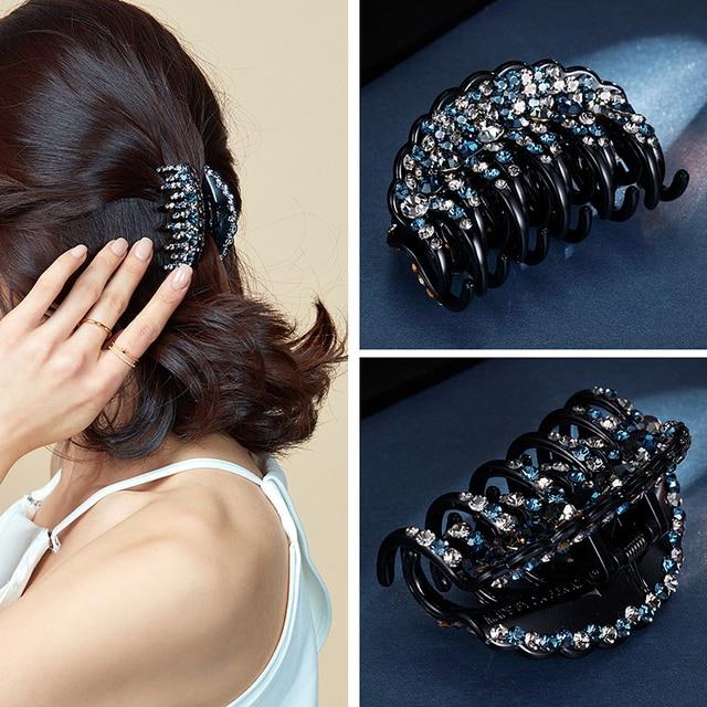 Заколки крабы для волос со стразами chimera акриловый зажим