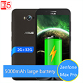 НОВЫЙ Оригинальный ASUS Zenfone Max Pro 5000 мАч Батареи 2 ГБ 32 ГБ 4 Г LTE 5.5 ''Snapdragon MSM8916 Quad Core смартфон Android 5.0