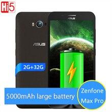 НОВЫЙ Оригинальный ASUS Zenfone Max Pro 5000 мАч Батареи 2 ГБ 32 ГБ 4 Г LTE 5.5 »Snapdragon MSM8916 Quad Core смартфон Android 5.0
