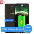Original novo asus zenfone max pro 5000 mah da bateria 2 gb 32 gb 4g lte 5.5 ''snapdragon msm8916 quad core smartphone android 5.0