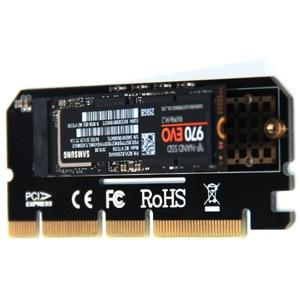 Image 2 - Carte dextension Led, coque en alliage daluminium, adaptateur pour ordinateur, Interface M.2 NVMe SSD vers PCIE nouveauté X16, 3.0