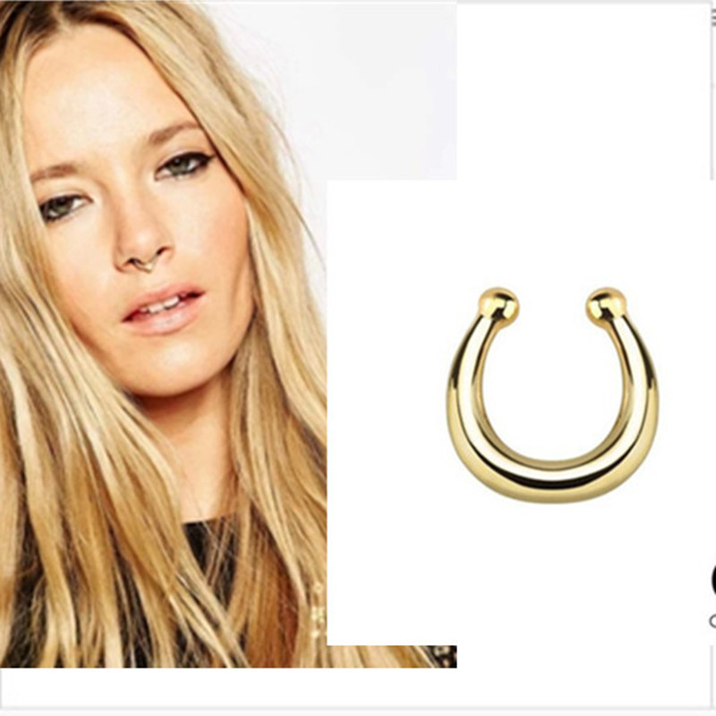 Us 2 89 3color Piercing Fake Septum Nose Ring Septum Fake Nose Piercing Fake Septum Ring Piercing Septo Falso Body Jewerly In Body Jewelry From