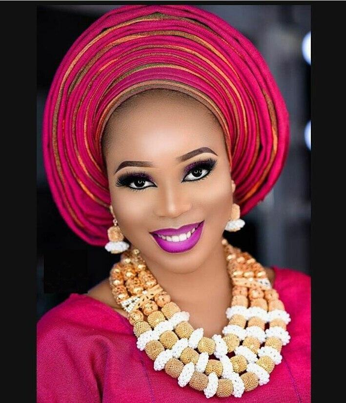 Fantastic Gold Bridal Beads African Jewelry Set Nigerian Women Costume Wedding Statement Necklace Set 2017 WE088 цена