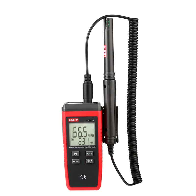 UNI T UT333S LCD Digital Thermometer Hygrometer Temperature Humidity Meter Moisture Meter sensor C/F Selection Data hold Backlig uni t ut331 temperature humidity meter tester thermometer hygrometer max min c f selection usb connect pc software data storage