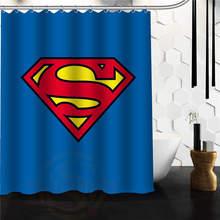 Whitexue Comic Hero Superman Waterproof Custom Waterproof Shower Curtain  48x72 60x72 Inch Surprised Gift(China