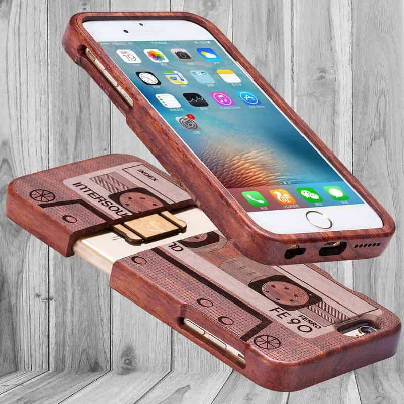 Retro Wood Fashion Sytles X 8 շքեղ բնական բամբուկե - Բջջային հեռախոսի պարագաներ և պահեստամասեր - Լուսանկար 1