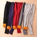 Calças Leggings de veludo Inverno Maternidade Roupas para Mulheres Grávidas Gravidez Quente Malha Cintura Alta Suspender Calças B383