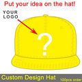 custom made base ball hat hip hop dancing cap snapback sun visor hat fitted kids size