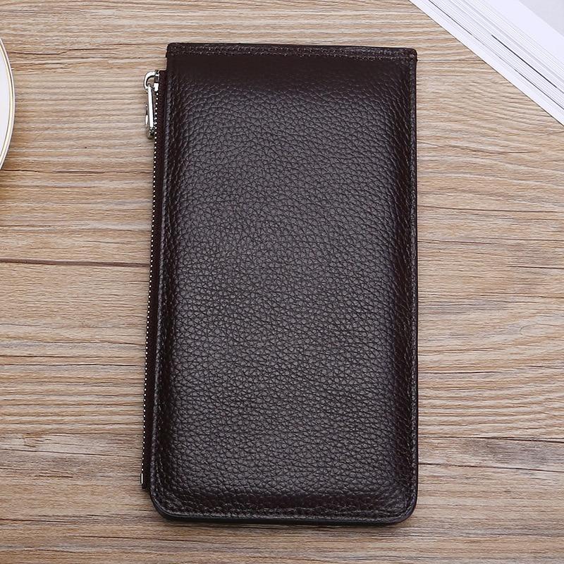 Weduoduo Genuine Leather Card Holder Big Capacity Long Men And Women Credit Card Holder Multi-functional Card Case Men Wallets