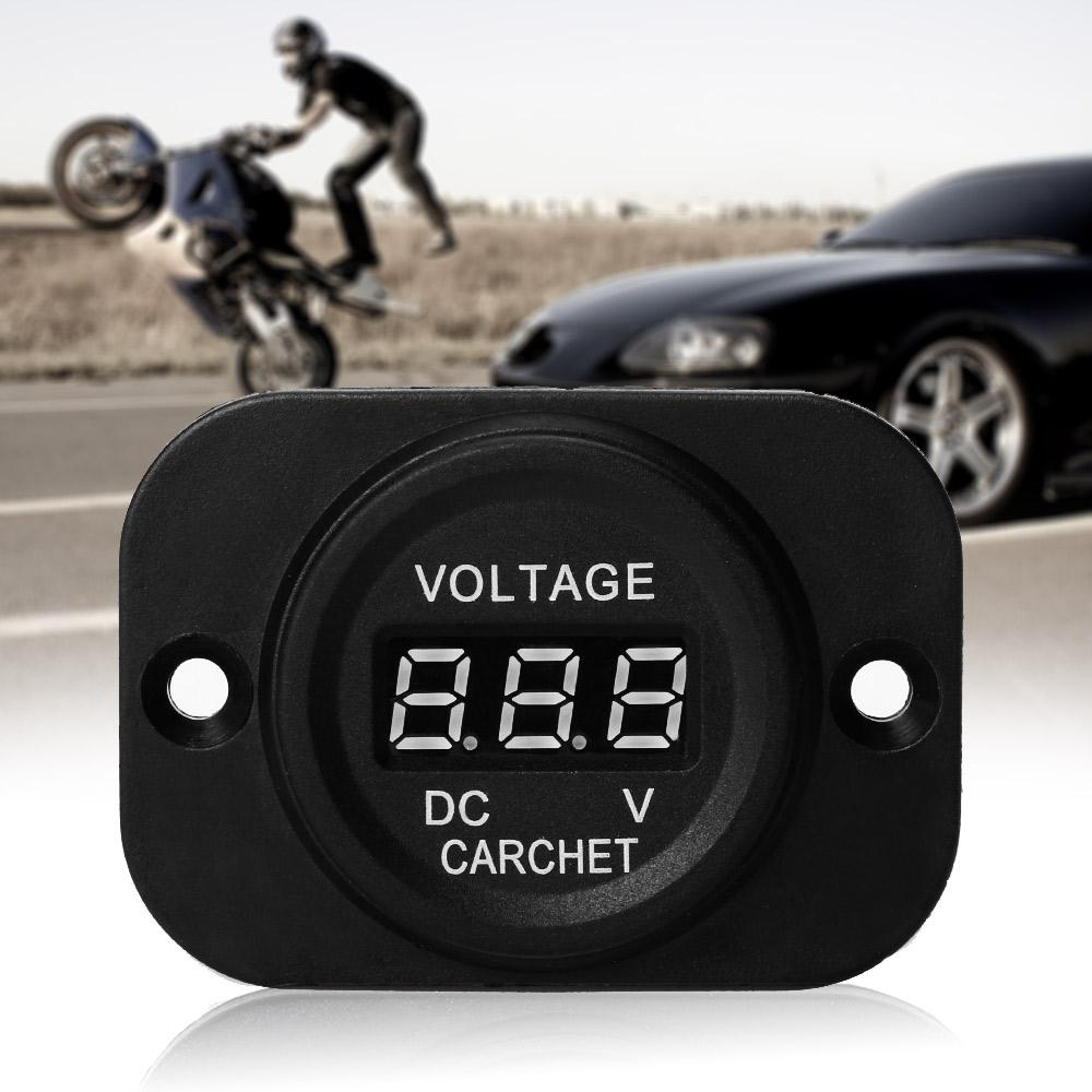 Car Truck Motorcycle DC Voltmeter Voltage Meter Red LED Digital Display