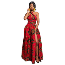 Women African Dresses Robe Long Dress New Fashion Summer Floral Print Bazin Vestidos Dashiki Party Clothes Maix