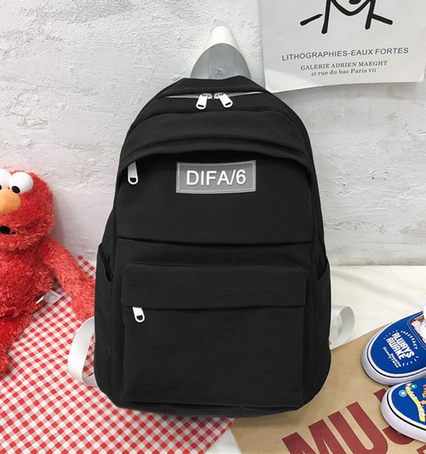 Large Capacity Fashion Waterproof Nylon Backpack Female for Color Yellow Travel Bagpack School Bags for Teenage Girls rucksack