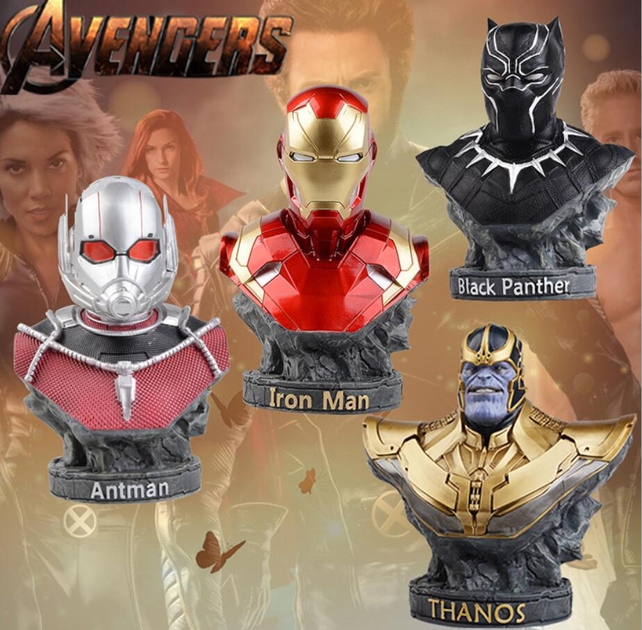 Marvel Avengers Statues Ironman Ant man Thanos Black Panther Action Figure Home Decoration Gift Ant man