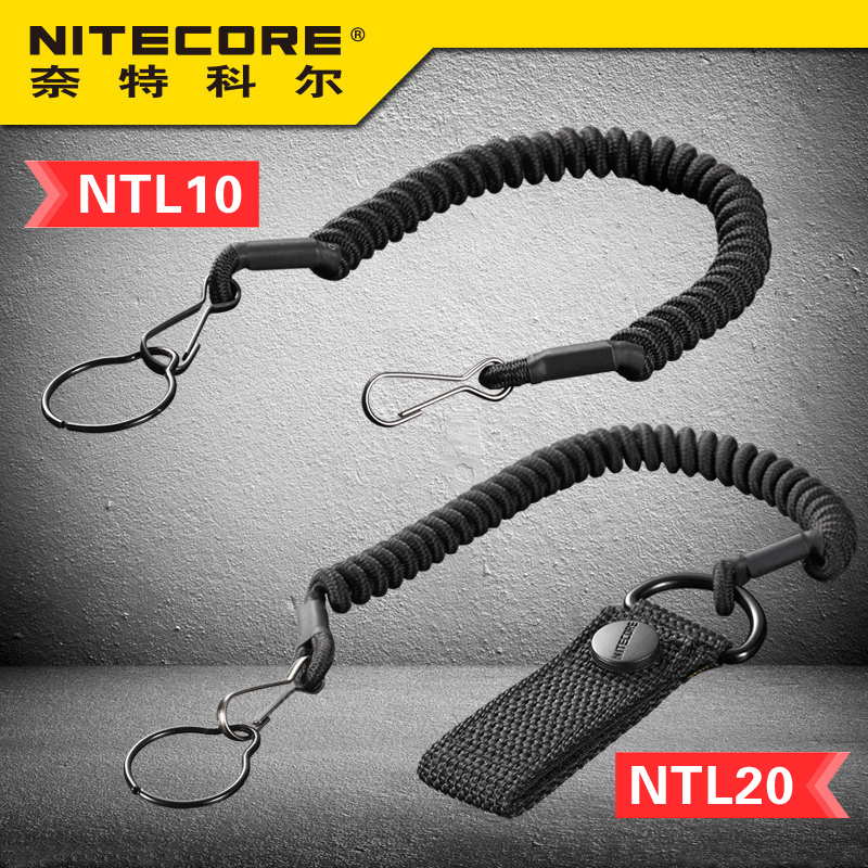 Nitecore NTL10 NTL20 Flashlight Tactical Lanyard Punched Stainless Steel Ring Safety Rope For 25.4mm Diameter LampNitecore NTL10 NTL20 Flashlight Tactical Lanyard Punched Stainless Steel Ring Safety Rope For 25.4mm Diameter Lamp