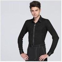 Male Latin Dance Suit Adult Latin Dance Shirt Mens Shirts Training Clothes Modern Rumba Cha cha Samba Jive Ballroom Coat B 6999