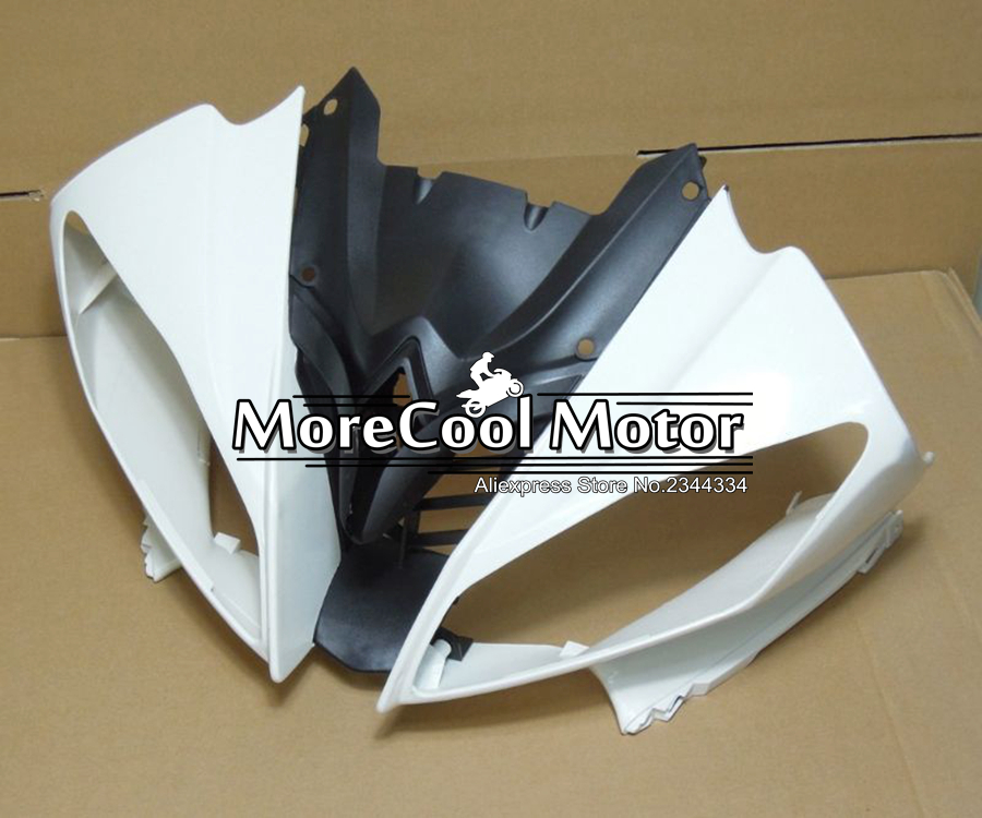 ABS Plastic Unpainted Fairing Front For Yamaha YZF R6 2008 2009 2010 2011 2012 2013 Injection Motorcycle Upper Fairing Head Nose 100% virgin abs plastic front fairing head for yamaha yzf r6 2008 2009 2010 2011 2012 2013 2014 upper fairing nose cowling new