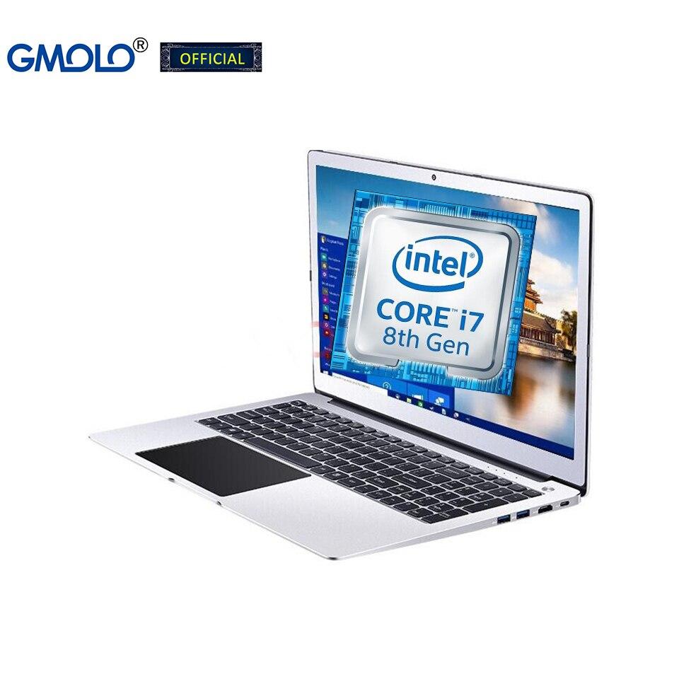 GMOLO 15.6 gaming laptop computer 16GB DDR4 RAM 512GB SSD + 1TB Intel I7 / I5 8th Generation quad core CPU metal notebook PC