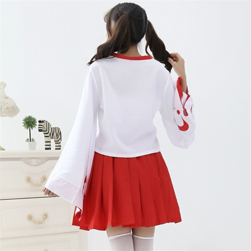 Inuyasha Cosplay Uniform Women Maid Outfit Girls Dancewear Fancy Dress Costume