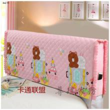 JaneYU Cotton Cover 1.51.8 Leather Bed Soft-packed Solid Wood Dust Simple Cartoon Bedhead