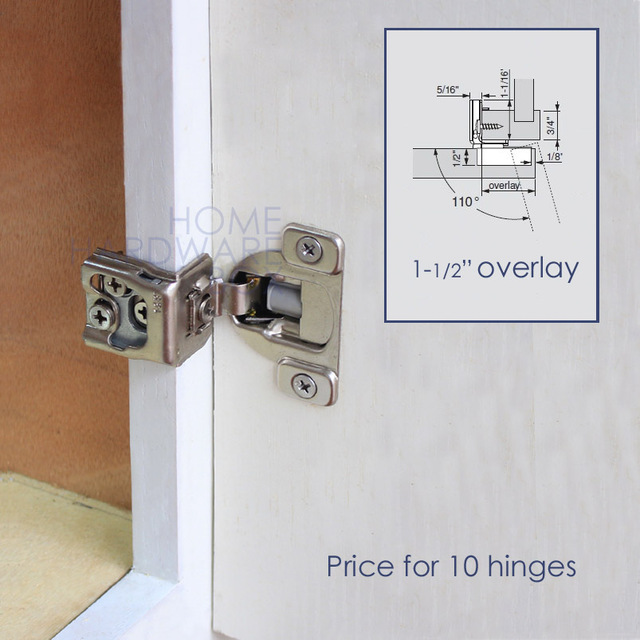 10 pc soft close frame cabinet door hinge 1-1/2  overlay 3  sc 1 st  AliExpress.com : door hinge - pezcame.com