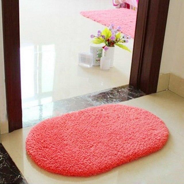 Top Sale Bathroom carpet Bath Mat Super Magic Slip-Resistant Pad Room Oval Carpet Floor Mats 40X60CM Free Shipping