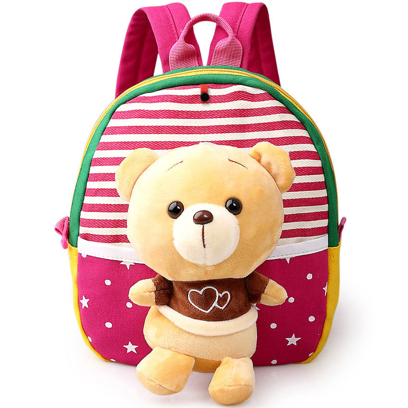 b1663d4a084f Cute Plush Bear Baby Kids Girls Doll Bags Mochil Little Children s Backpack  Kindergarten School Bag For Boys Satchel For Age 1-3