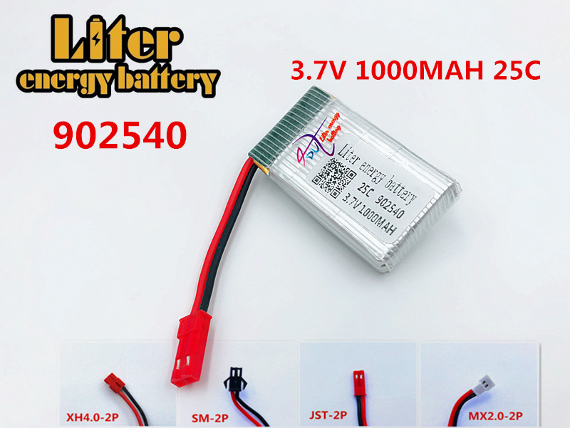 X400/X500/X300C/X800/1315/HJ818/HJ819 <font><b>3.7V</b></font> <font><b>1000mAh</b></font> 25c Lipo <font><b>Battery</b></font> 902540 RC Quadcopter Drone Spare Part 3.7 v <font><b>battery</b></font> image