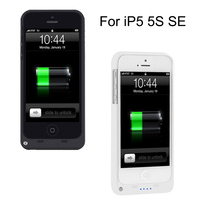 External Power Bank Case Pack Backup Battery 2200mAh Charge Case Cover For IPhone SE 5 5S