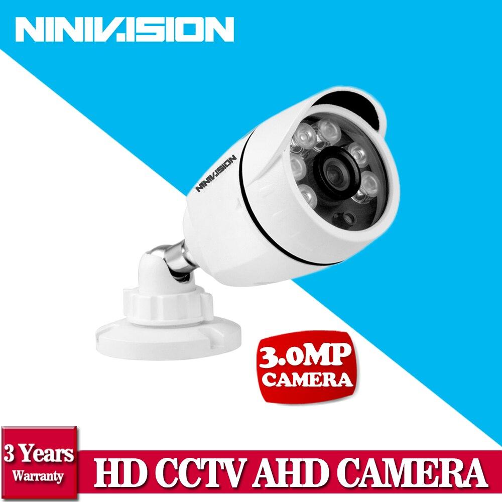 NINIVISION Super 3MP CCTV 1920p Array 6pcs Lens Varifocal HD AHD Camera IR-CUT Waterproof White Metal Bullet Video Surveillance