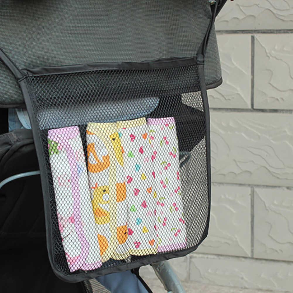 รถเข็นเด็กทารกแขวนกระเป๋าถือตาข่ายเด็กกระเป๋ารถเข็นรถเข็นเด็ก Organizer สุทธิตะกร้าตะกร้ากระเป๋าอุปกรณ์เสริมสำหรับรถเข็นเด็กทารก