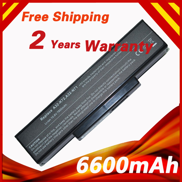 9 CELL Laptop battery for Asus A32-K72 A32-N71 K72DR K72 K72D K72F K72JR K73 K73SV K73S K73E N73SV X77X77VN k72-100 X77VN