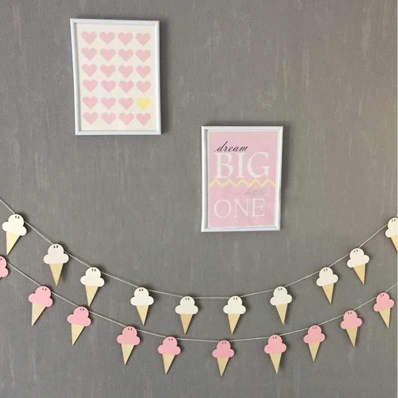 1 шт. деревянная подвеска DIY подвесная занавеска INS Ice Cream декор для детской комнаты баннер настенная подвесная занавеска праздничный Декор ремесла подарки