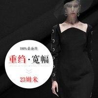 100% silk clothing dress fabric genuine silk heavy silk crepe de chine fabric weight 23 Mumi
