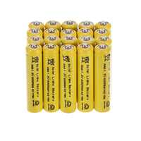 Anmas Power 5~30Pcs Yellow Color 1.2V AAA Ni-MH 600mAh 3A nimh Rechargeable Battery For Solar Lights Replacement Batteries