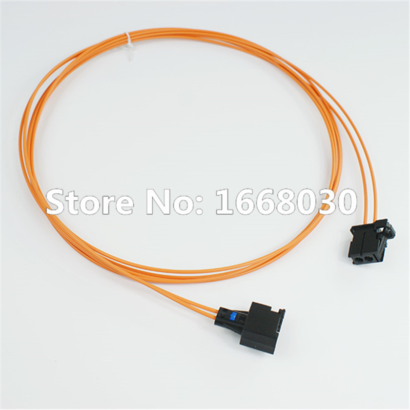 MOST Optical Fiber Cable Connectors Male To Female For Audi BMW Benz 100CM