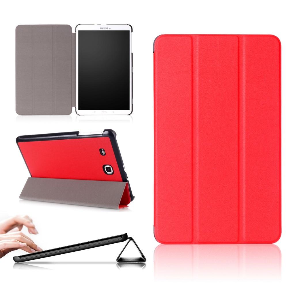 Hot Sale Pu Leather Tablet Cover For Samsung Galaxy Tab E 80 Case Advan S5j Smartphone Quadcore Fundas T375 T377v Sm T378