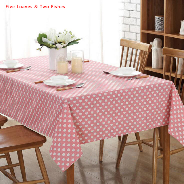 Free Shipping Christmas Simple Love Square Tablecloths Cotton Linen  Tablecloth Rectangular Table Cloth Solid Color Table
