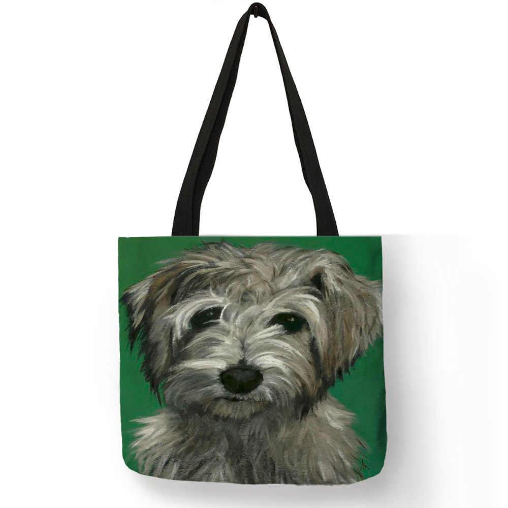 8782fe06447 ... Perro arte retrato de hombro bolso de oficina diaria bolsos para las mujeres  dama de compras ...