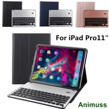 Animuss Wireless Keyboard For iPad Pro 11 Case Bluetooth Detachable Aluminium Cover Drop Resistance