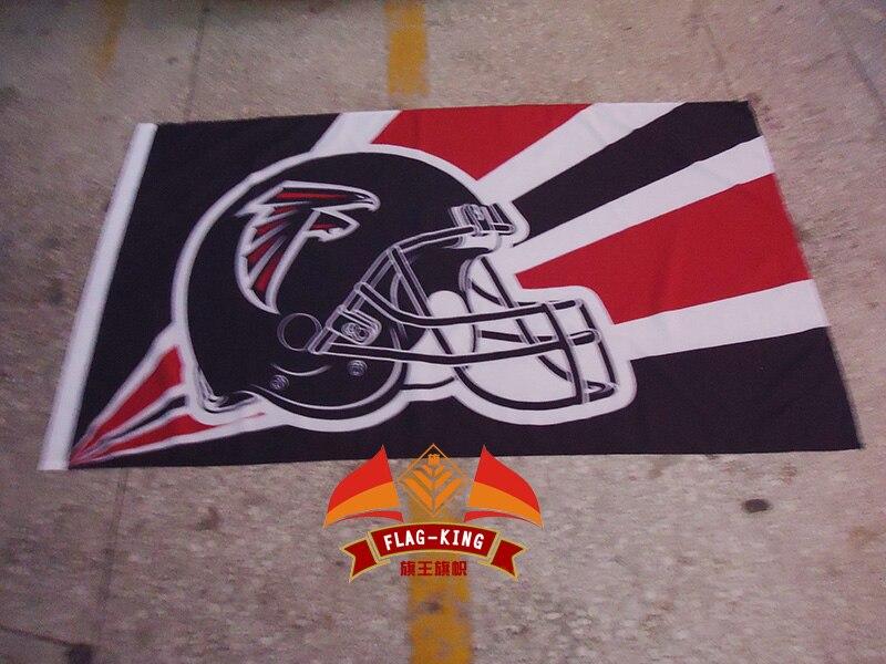 Atlanta Falcons Helmet flag,Rugby club, football sport Helmet polyster 90*150 CM banner,fan flagking
