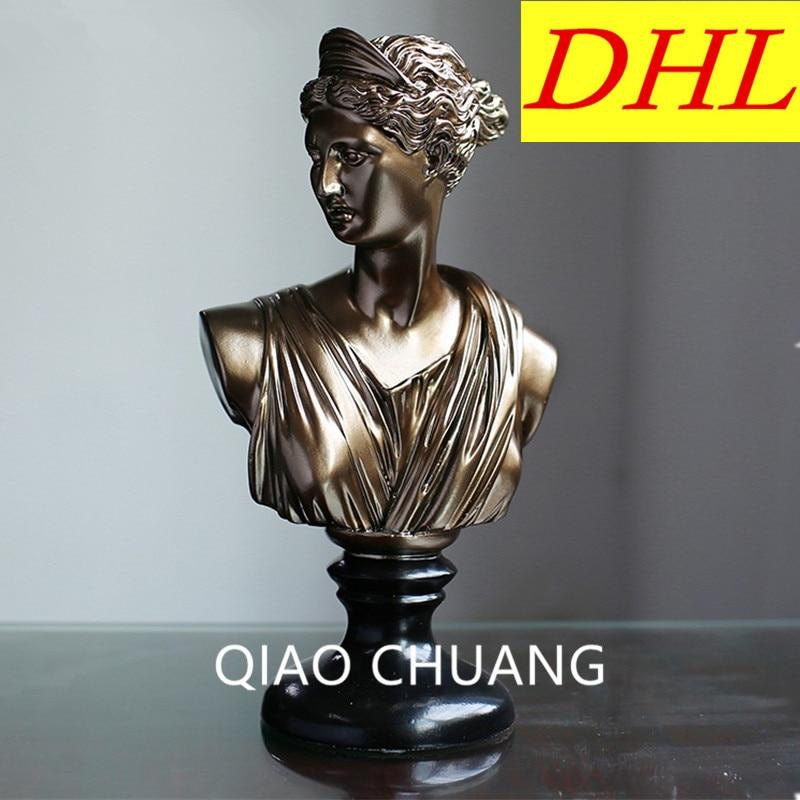 лучшая цена Continental Retro Classical Figure Greek Goddess Half-length Sculpture Home & Hotel & Club Creative Resin Decoration G557