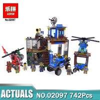 Lepin 02097 City Series The Mountain Police Headquarter Set Building Blocks Bricks Toys Compatible LegoING 60174