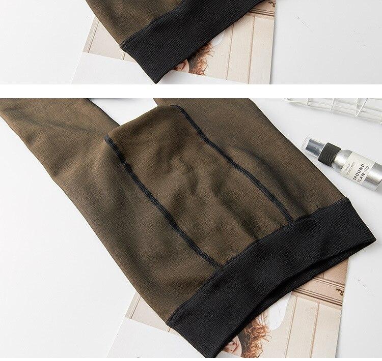 através da carne quente calças femininas leggings de malha quente para mulheres