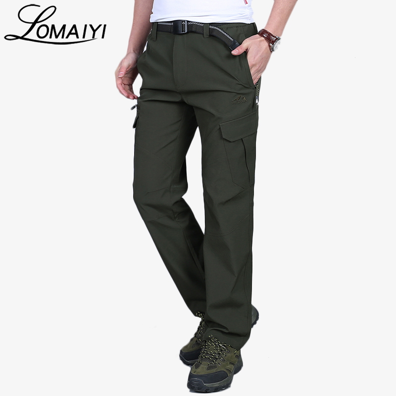 LOMAIYI Mens Cargo Pants With Pockets For Men 2018 Spring Summer Breathable Work Trousers Male Army Green Casual Pants,AM220