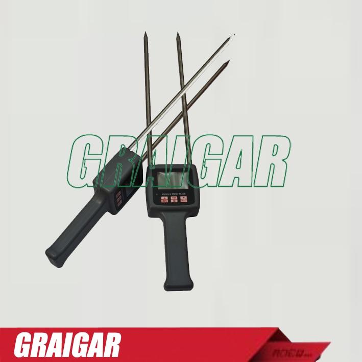 TK100 Digital Multifunctional Moisture Meter Tester 0-60% brand portable digital multifunctional moisture meter tester 0 80% tk100