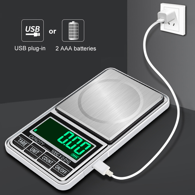 Mini Precision 0.01g /0.1g pocket Digital Scales for Gold Bijoux Sterling jewelry weight Balance Gram Electronic Scales