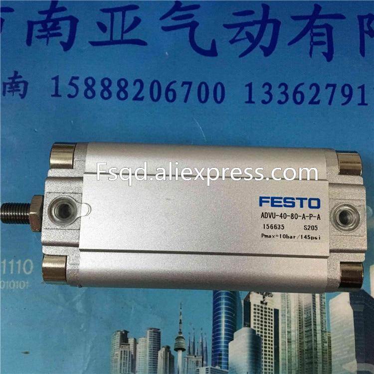 ADVU-40-160-A-P-A FESTO Compact cylinders  pneumatic cylinder  ADVU series festo imported cylinder advu 25 160 a p a s6