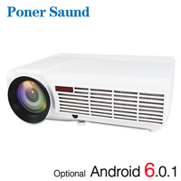 Poner Saund 96 LED Projector WIFI Smart Android Projector Support Full HD 1080P VGA HDMI LCD Proyector Bluetooth Home Theater