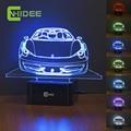 485Spider Car Modeling Creative LED Night Lamp Living Room Children Bedroom Decoration USB Table Desk NightLights 3d Lampara